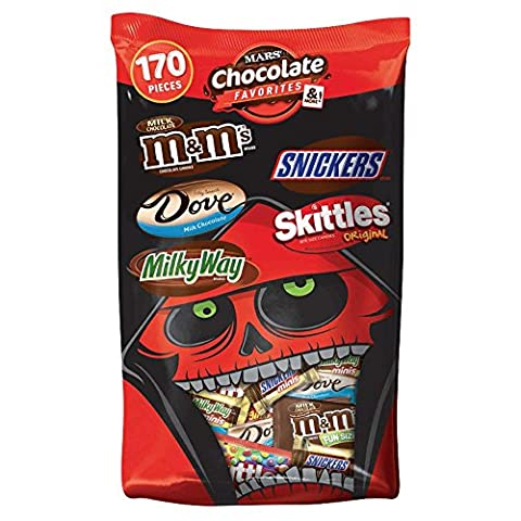 MARS Chocolate Favorites & More Halloween Candy Variety Mix 67.93-Ounce 170-Piece Bag - Fall Assorted Chocolates