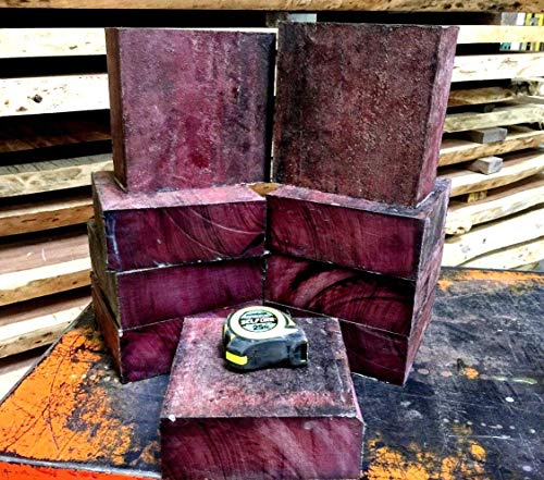 PurpleheartWood Blanks One Beautiful Exotic Purpleheart Lumber Bowl Turning Lathe 6 x 6 x 2 Board DowelCap