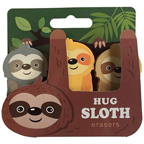 Streamline Sloth Eraser Set