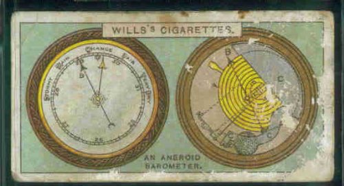 An Aneroid Barometer 1924 Wills Cigarettes Do You Know 2nd Series #2 (POOR)