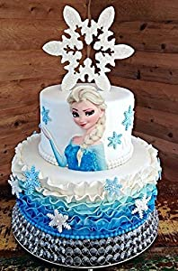 Amazoncom Stand up EDIBLE Elsa for side of cake She is 100