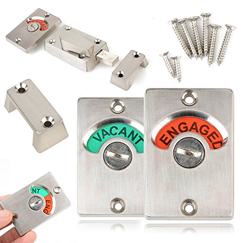 Engaged Indicator Bolt Vacant/Engaged Bathroom WC Public Restroom Toilet Privacy Partition Door Lock Latch by Isguin