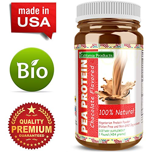California Products Pure Pea Protein Rice Protein Powder Chocolate Natural Formula Amino Acids Workout Bodybuilding Supplement Lose Weight Suppress Appetite Build Muscle for Men & Women