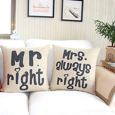 【Bailand】 Home Decor Throw Pillow Cover for Couch Set of