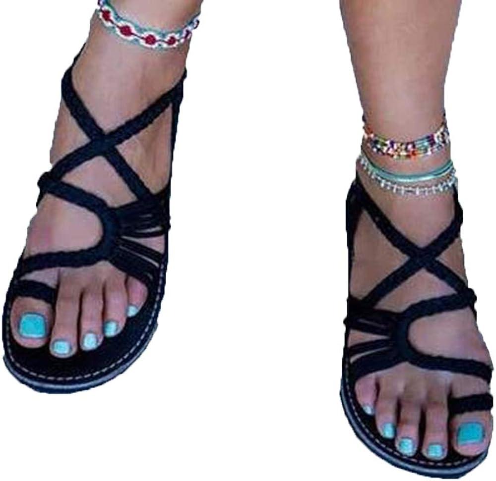 Xnhgfa Women's Gladiator Sandals strap