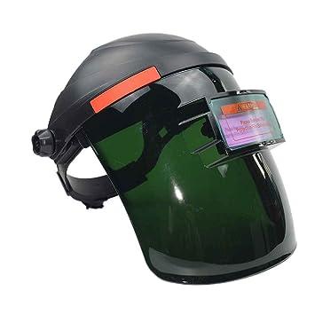 Aiming Solar Arco Circular de Soldadura de oscurecimiento automático Casco de protección Ajustable de Soldadura Soldadura Soldador máscara Cap: Amazon.es: ...