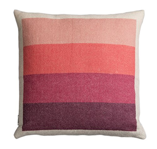 (Roros Tweed 100% Norwegian Wool Reversible Designer Pillow Cushion (Asmund Bold in)
