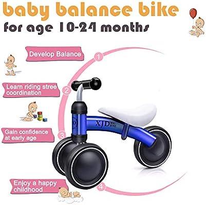 Amazon.com: XJD - Bicicleta de equilibrio para bebé, para ...