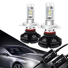 9006 HB4 LED Headlight Bulbs Conversion Kit CANBUS Error Free 3000K 6500K 8000K Free DIY PHI-ZES 12000LM/set Driving Fog Lights Replace Halogen Xenon HID Bulb +1Pair DECODER,1 Yr Warranty
