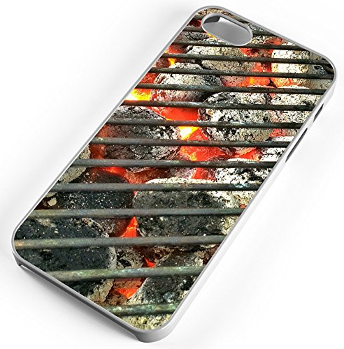 iPhone 8 Plus 8+ Case Grill Out Cook Charcoal Barbeque Hamburgers Customizable TYD Designs in White Rubber -