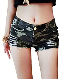 Nightclub Casual Ladies Camouflage Shorts Pants Hotpants Camo Jean Shorts