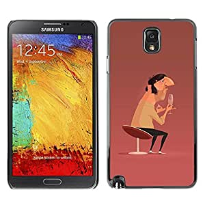 Ihec Tech Arte Hombre Champagne Cátedra Diseño Pintura / Funda Case back Cover guard / for Samsung Note 3 N9000