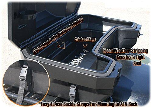 Bauletto Box Quad ATV grande per 3 caschi