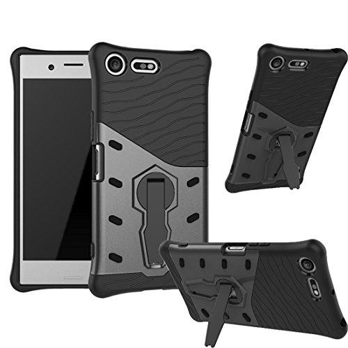 Slim Armor TPU/PC Cover Case for Sony Xperia X (Black) - 5