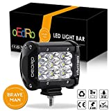 oEdRo Tri-Row 4 Inch LED Pod Light, 1600LM Spot Beam 27W LED Fog Driving Light Off Road Car Boat Light for Truck SUV 4X4 4WD ATV Jeep, 3 Years Warranty