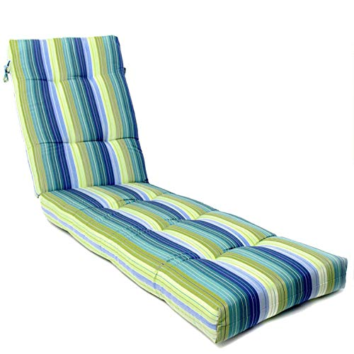 BBQGUYS Sunbrella Seville Seaside Long Outdoor Replacement Chaise Lounge - Outdoor 23w Cushion