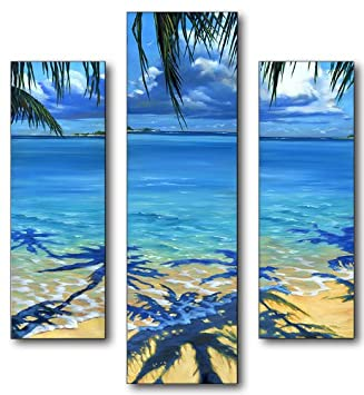 Stupell Home Décor Palm Tree Shadows 3 Piece Multi Size Wall Art Panel Set,  N Part 30