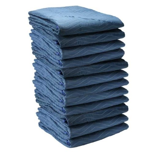 Moving Blanket (12-pack) 72'' X 80'' US Cargo Control - Pro Mover (82 Lbs/dozen, Blue/Light Blue) by US Cargo Control
