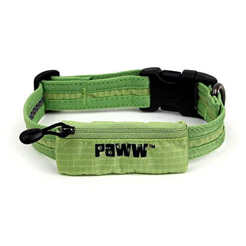 Paww Secret Agent Collar, Large, - Green Agent