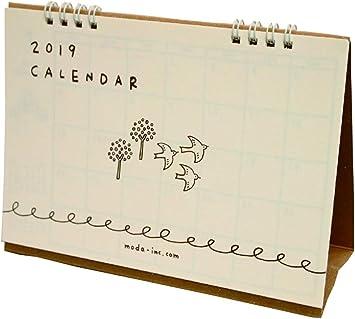 Amazon B6 書き込みカレンダー 卓上 シンプルイラスト 19年1月から19年12月対応 Cd カレンダー 文房具 オフィス用品