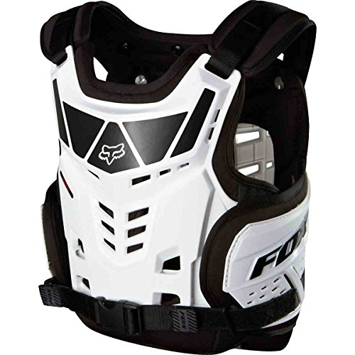 - Fox Racing Raptor Proframe LC Youth Roost Deflector Off-Road Motorcycle Body Armor - White/One Size