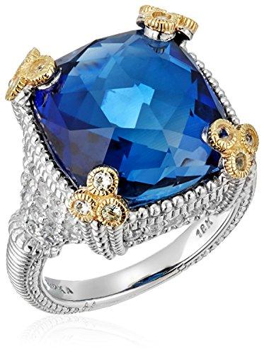 Judith Ripka 'Ambrosia' Small Monaco Created Sapphire Ring, Size 6