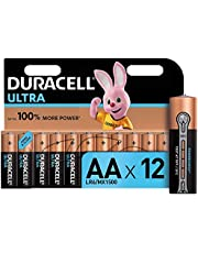 Duracell Ultra AA Alkaline Batteries, 1.5 V LR06 MX1500, Pack of 12