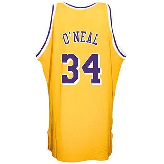 Shaquille Oneal NBA Los Ángeles Lakers Nº 34 Jersey de baloncesto ...