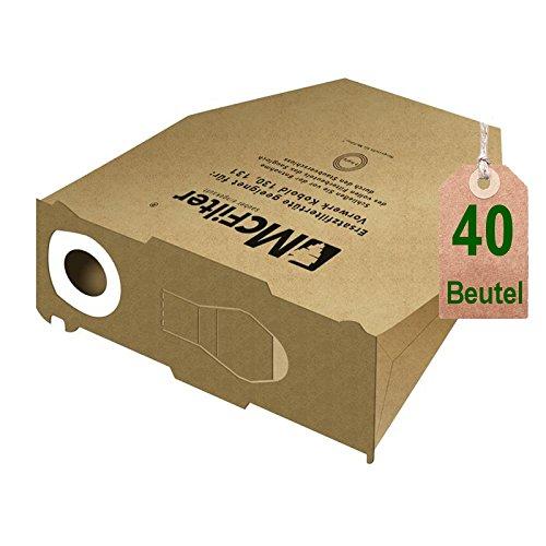 40 bolsas de aspiradora bolsas para aspiradoras Vorwerk Kobold VK ...