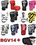 Fairtex BGV14 Microfibre Boxing Gloves Muay Thai Boxing, MMA, Kickboxing,Training Boxing Equipment, Gear for Martial Art (Japanese Art, 8 oz)