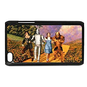 Custom fantasy film The Wizard of Oz IPod Touch 4/4G/4th Generation Hard Plastic Shell Case Cover White&Black(HD image)