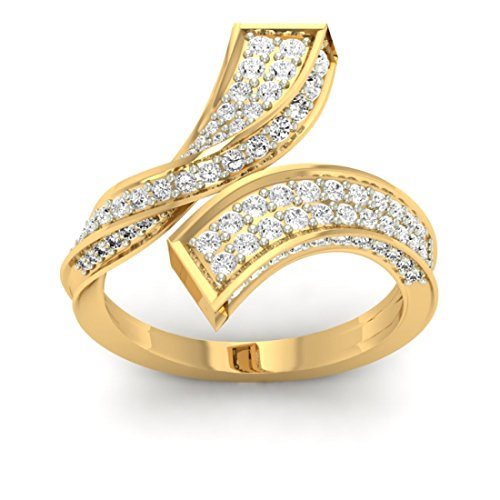 14 K Or jaune 0,91 carat au total Round-cut-diamond (IJ | SI) en diamant