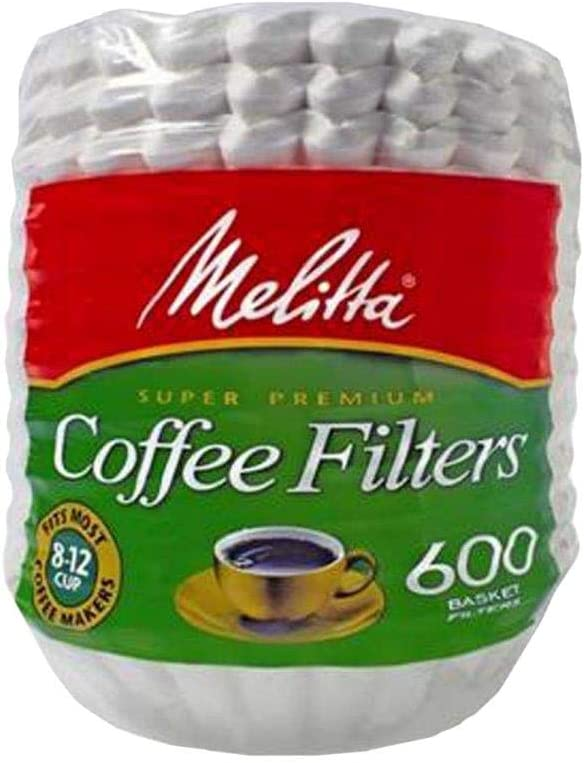 Melitta Super Premium Coffee Filters, Basket, 8-12 Cups, White, Pack of 600 51Rzv01oG4L
