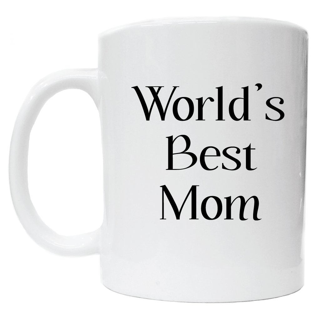 Amazon.com | Awesome Graphics Worlds Best Mom White Ceramic Coffee ...