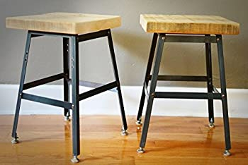 Pair of Reclaimed Wood Stools | Salvaged Barn Wood | Reclaimed Old Barn Wood | FREE SHIPPING