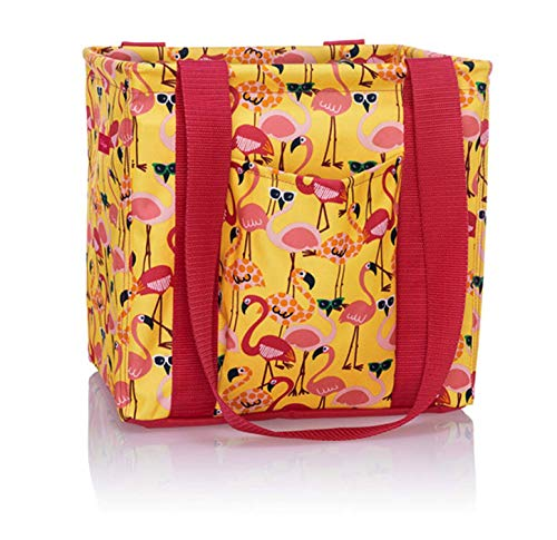 Thirty One Small Utility Tote - 9337 - No Embroidery - in Let's Flamingle
