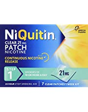 NiQuitin Clear 24 Hour 7 Patches Step 1, 21mg - 1 Week Kit and more