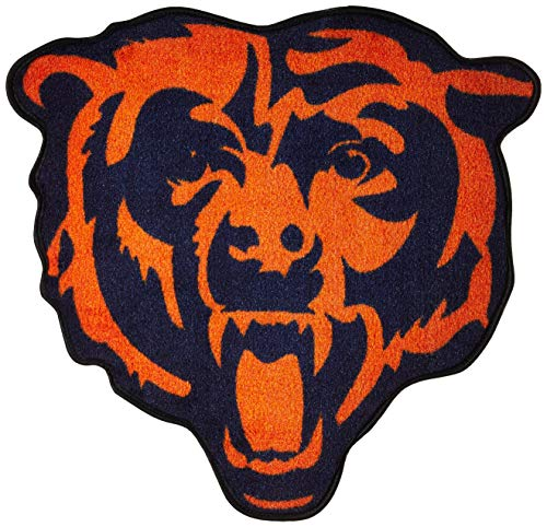 NFL Chicago Bears Mascot Mat, 3' x 4'/Small, Black
