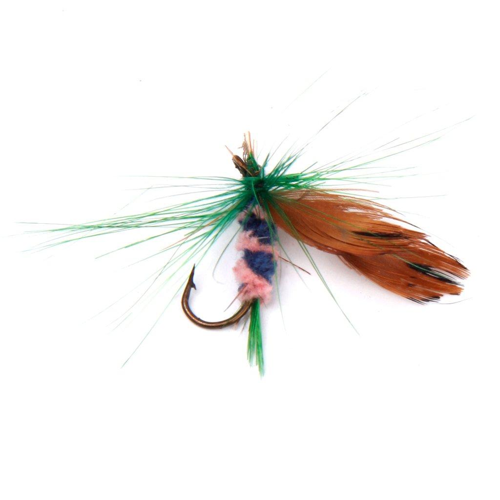 MonkeyJack Fly Patch Fishing Ripple Foam with Vest Clip Dry Fly Patch Wet Flies Hooks
