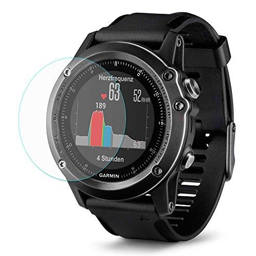 Muicatte Hat - Prince 0.2mm 9H 2.15D Arc Edge Smart Watch Tempered Glass Protective Film for Garmin Fenix 3 HR 2PCS