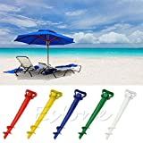 YingNeng Sun Umbrella Holder Beach Patio Parasol Stand Ground Earth Anchor Spike - White