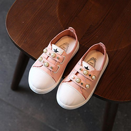 Igemy 1 Paar Neue Mode Kleinkind Baby Pearl Casual Sneakers Schuhe Outdoor Nette Schuhe Rosa