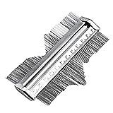 125mm 5'' Metal Professional Contour Profile Gauge Edge Shaping Tiling Laminate Tiles Measurement Tool