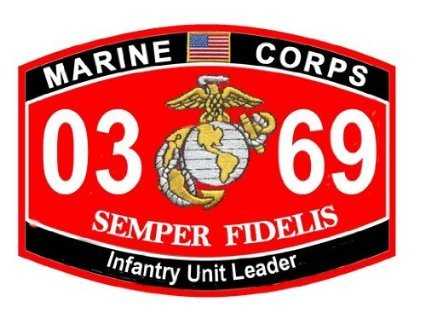 USMC MOS 0369 Infantry Unit Leader Decal 5.5