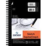 Pro-Art 5-Inch by 8-Inch Canson Universal Sketch Pad, 100-Sheet - 702-191