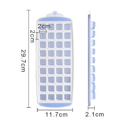 NACOLA Bandejas para cubitos de hielo, silicona flexible y ...