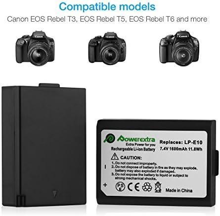 Powerextra 2 Paquetes Reemplazo Canon LP-E10 Batería para Canon ...