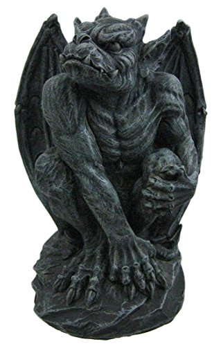 Poised Protector Winged Gargoyle Statue Guardian