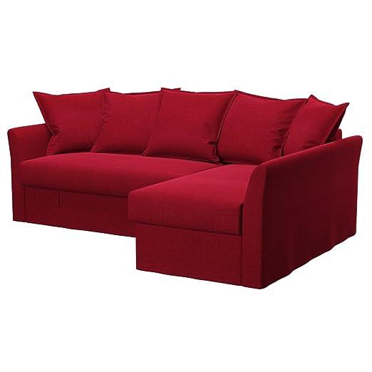 Soferia - IKEA HOLMSUND Funda para sofá Esquina, Classic Red ...