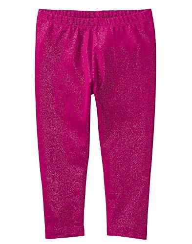 Gymboree Baby Girls Side Cinched Capri Legging, Berry Sparkle, 5T -